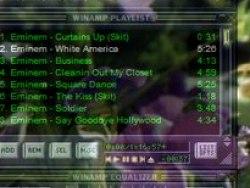 Effect Schlag in Hauptfenster von Winamp 5