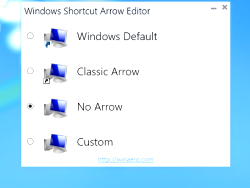 How to remove arrows from shortcut icons