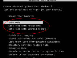 Starting in Safe Mode in Windows 8