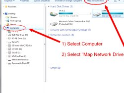 How to map network drives