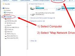 Comment mapper des lecteurs réseau
