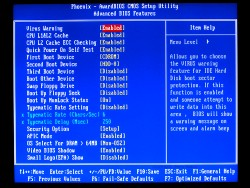 Modification des paramètres du BIOS sous Windows XP