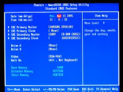 Comment faire pour restaurer le BIOS sous Windows XP